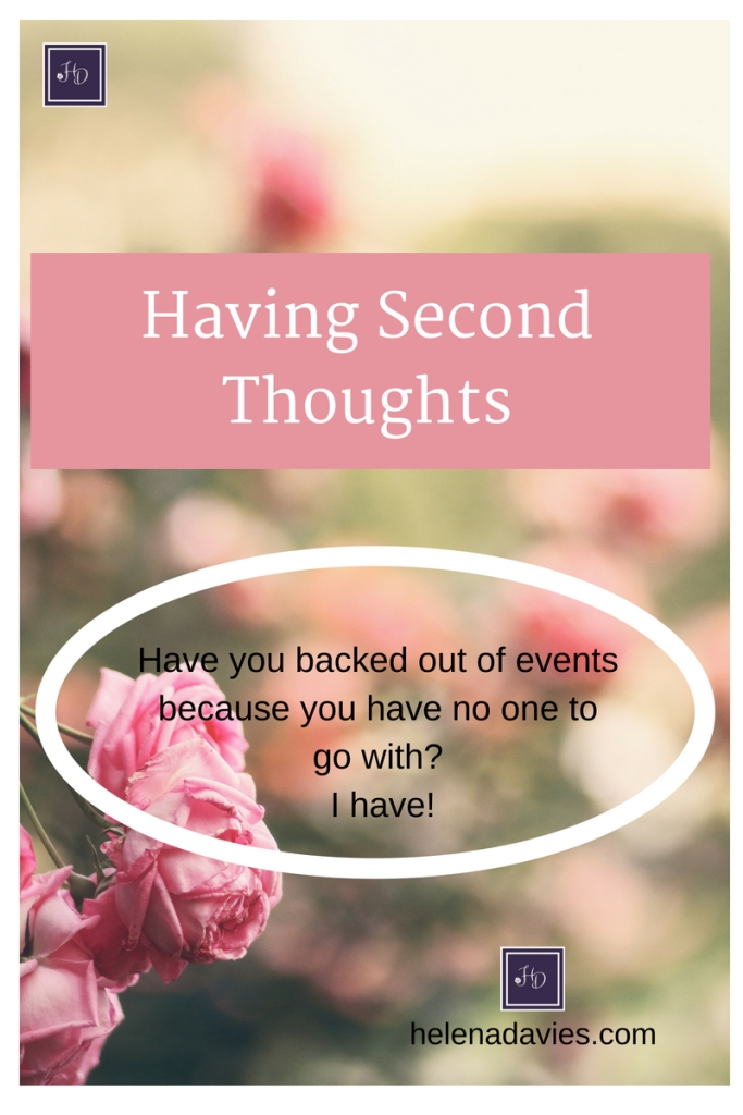 Do you backout of events because you have no one to go with? You are not alone.