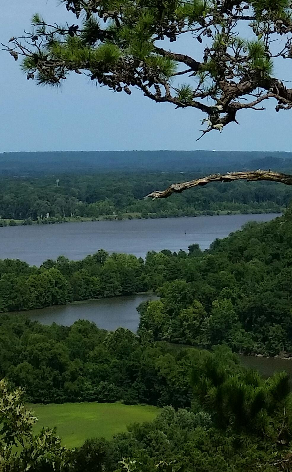 Arkansas River before the 2019 flood. Rivers flood the land but worry floods our minds